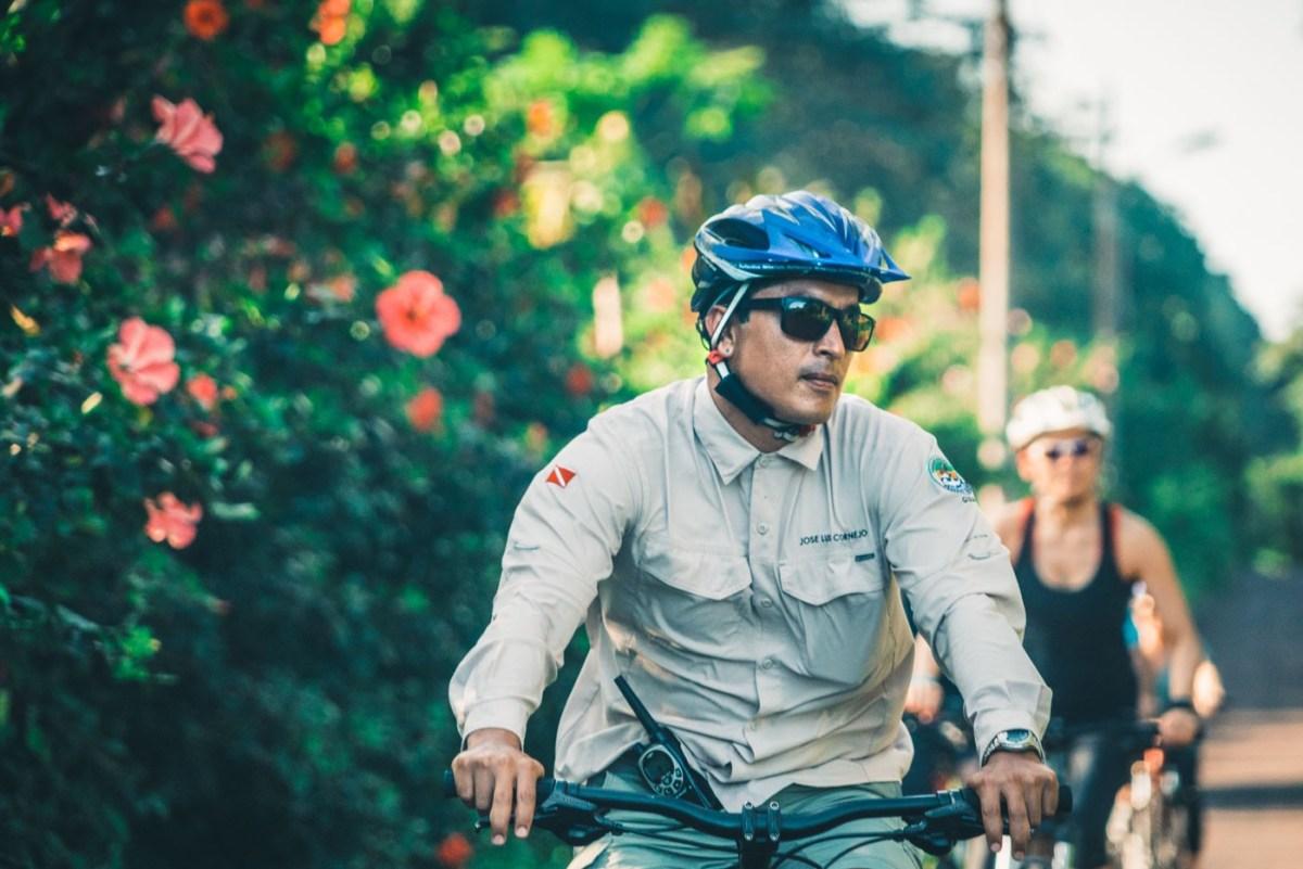 Pepo, guiding the crew through the roads of San Cristobal