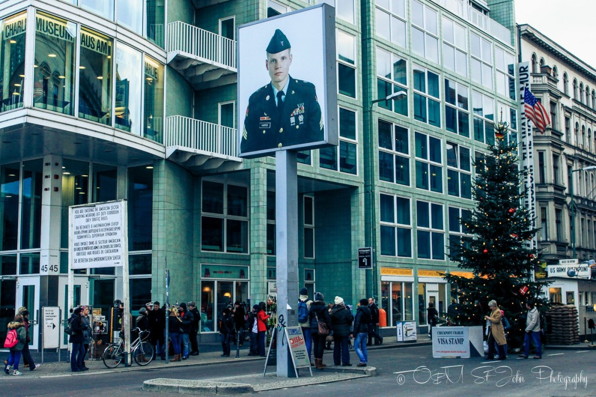 Checkpoint Charlie, one of Berlin's primary tourist attractions. Germany