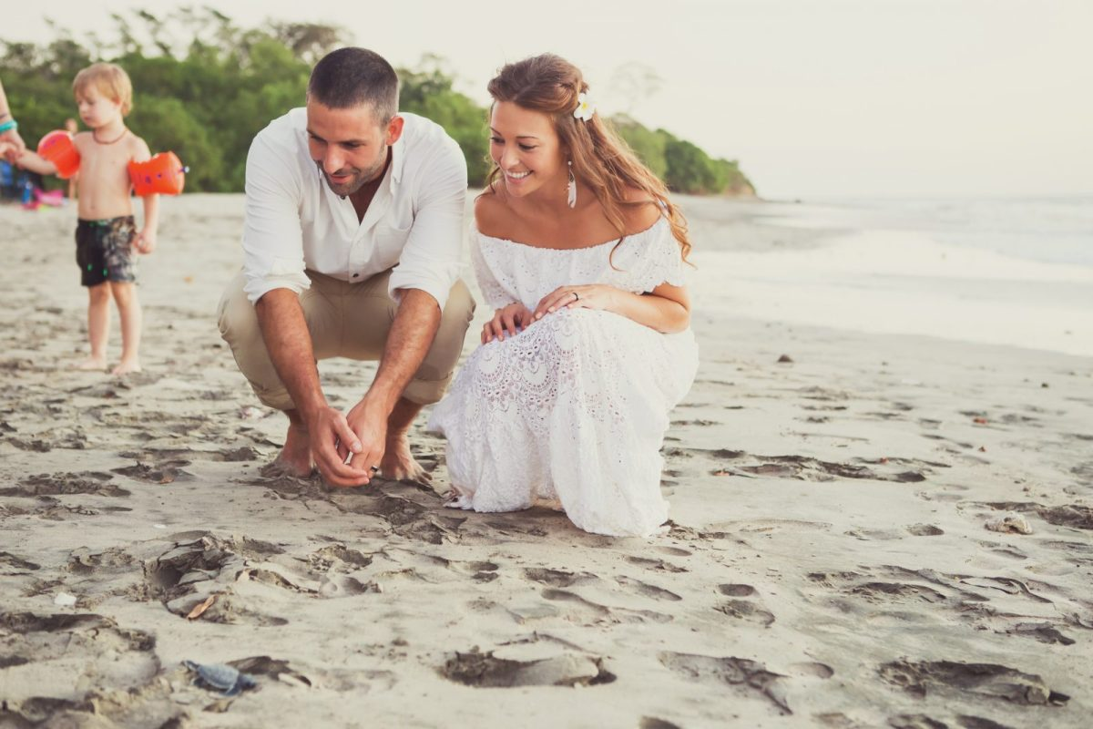 Max & Oksana Watching the turtles hatch on our wedding day
