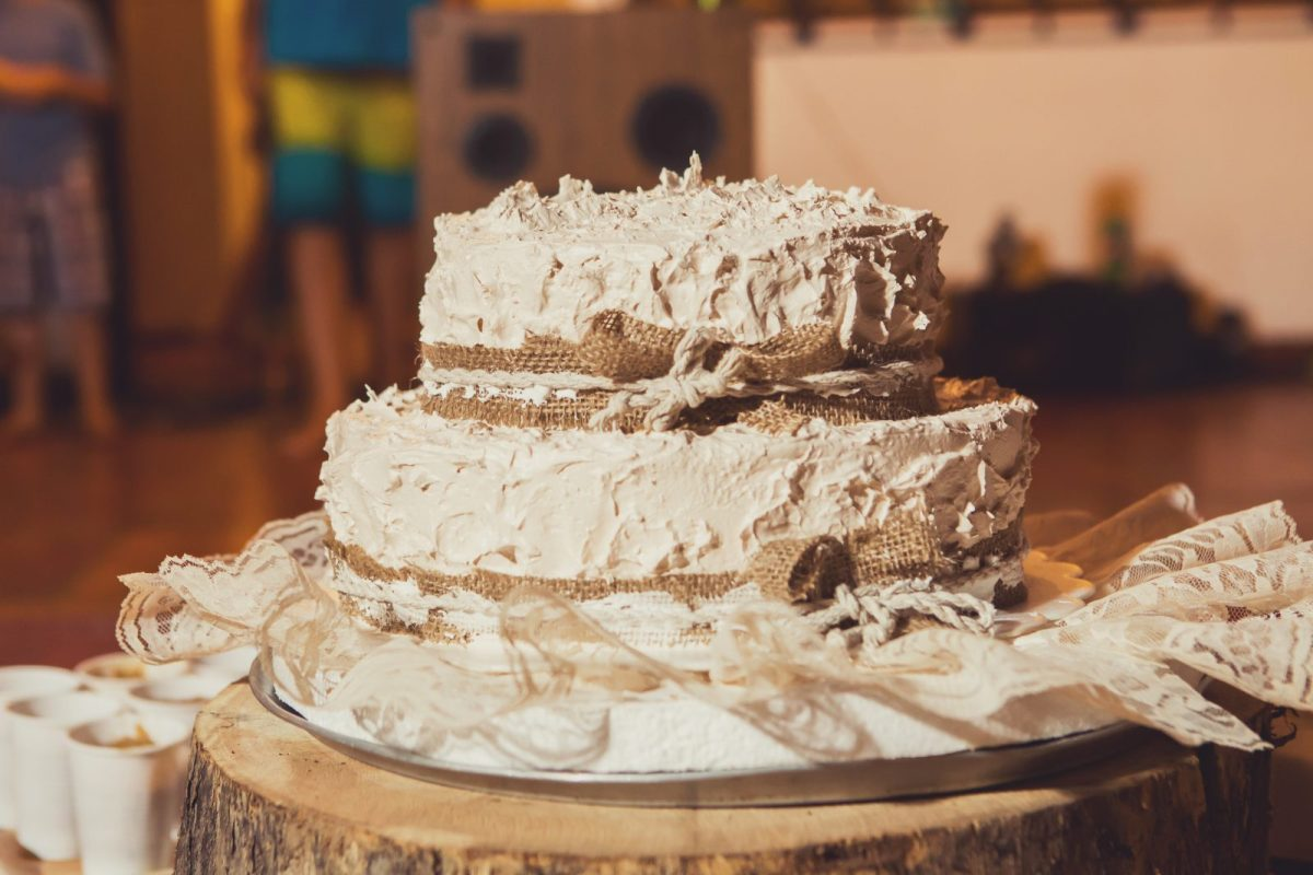 Our locally made wedding cake. Costa Rica