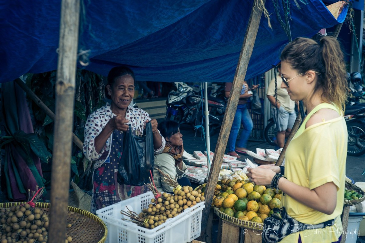 Buying my daily dose of fruit at a stall on Jalan Poncowinatan, Yogyakarta, Java, Indonesia