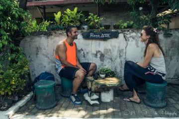 Taking a break in Yogyakarta. Java. Indonesia