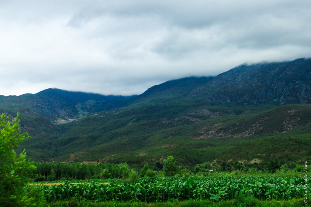 Beautiful countryside in Lijiang, China