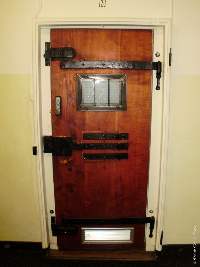Prison cell, I mean, hotel room door