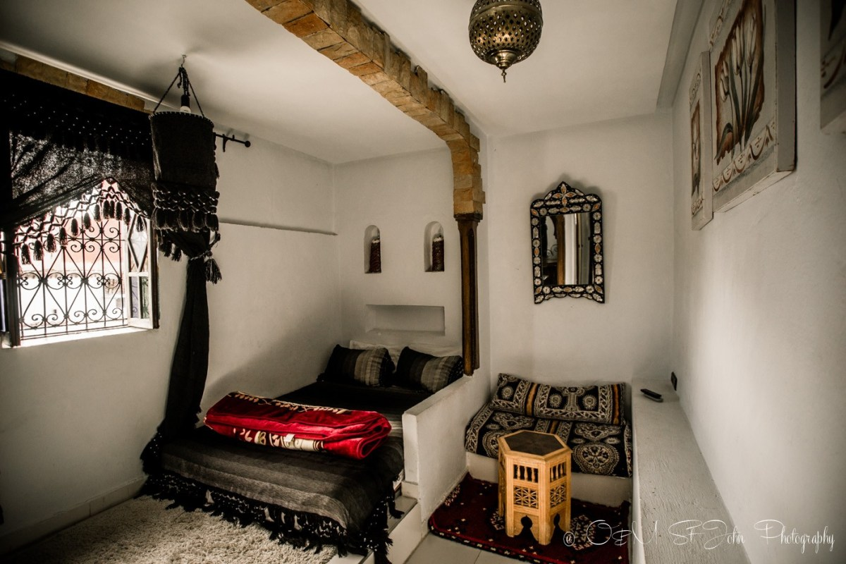Our fancy suite in Maison Hotel. Chefchaouen, Morocco