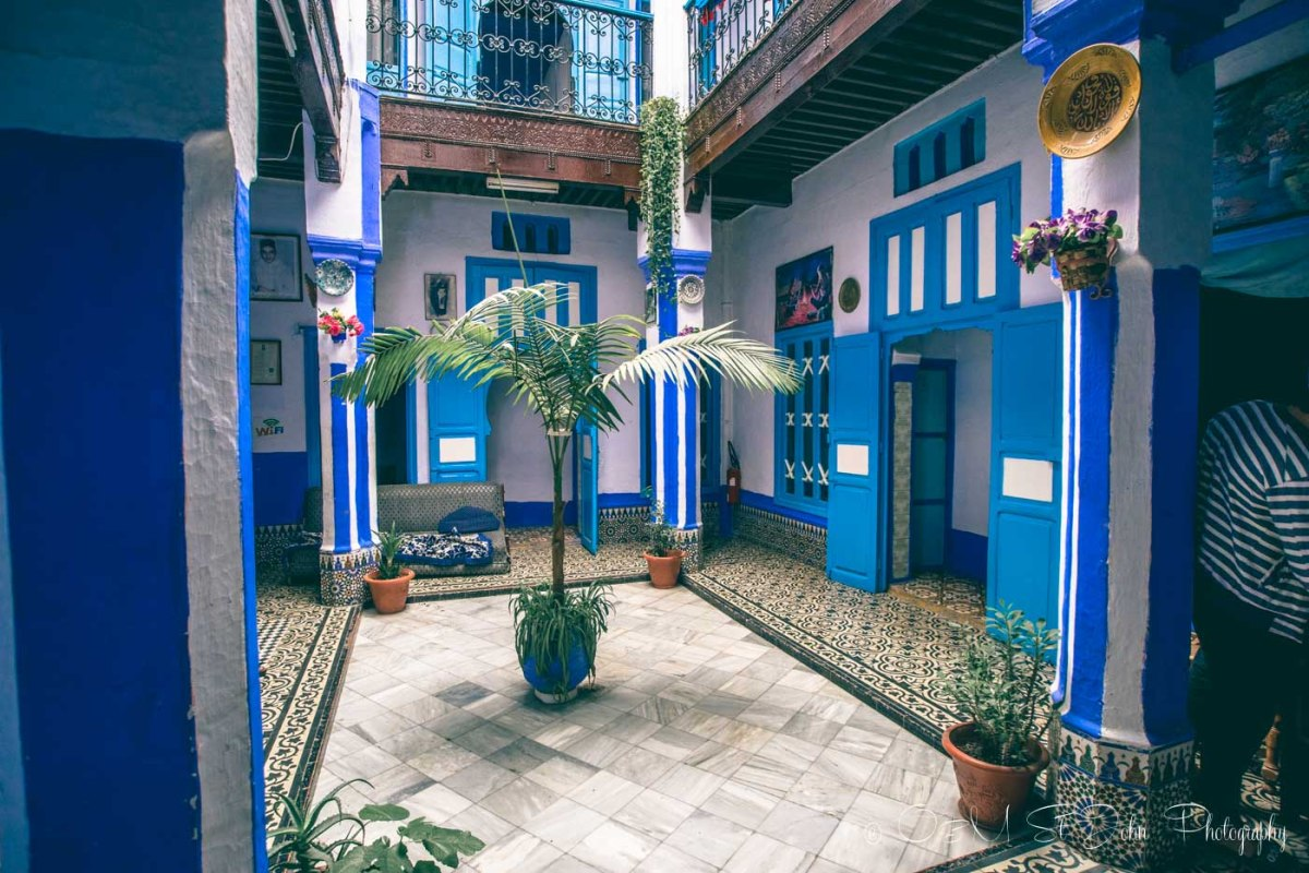 Even the insides of some riads are blue. Chefchaouen. Morocco