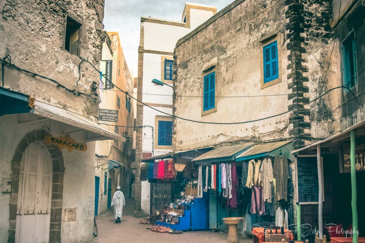 Shops in the Essaouira medina. Morocco