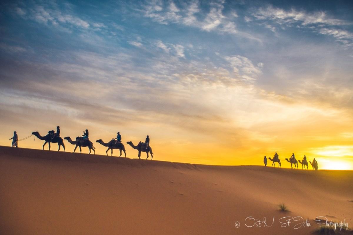 Sunrise ride back to the hotel from Erg Chebbi, Sahara Desert. Morocco
