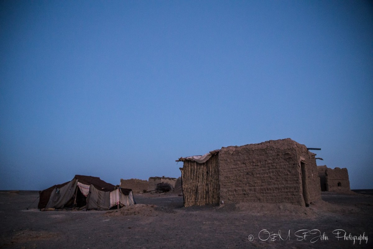 Nomad hut in Erg Chebbi, our accommodation for the night in the Sahara Desert. Morocco