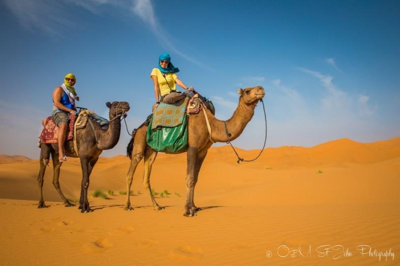 Max and Oksana in Erg Chebbi, Sahara Desert. Morocco