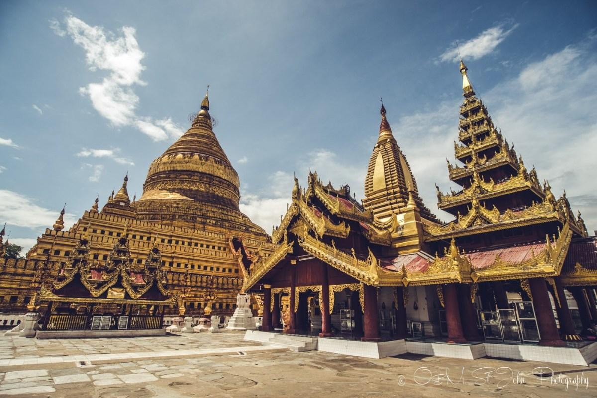 Inside the Shwesandaw Paya in Bagan. Myanmar