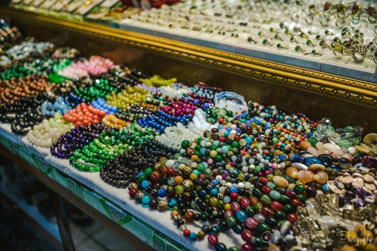 Jewelry at Bogyoke Aung San Market. Yangon. Myanmar