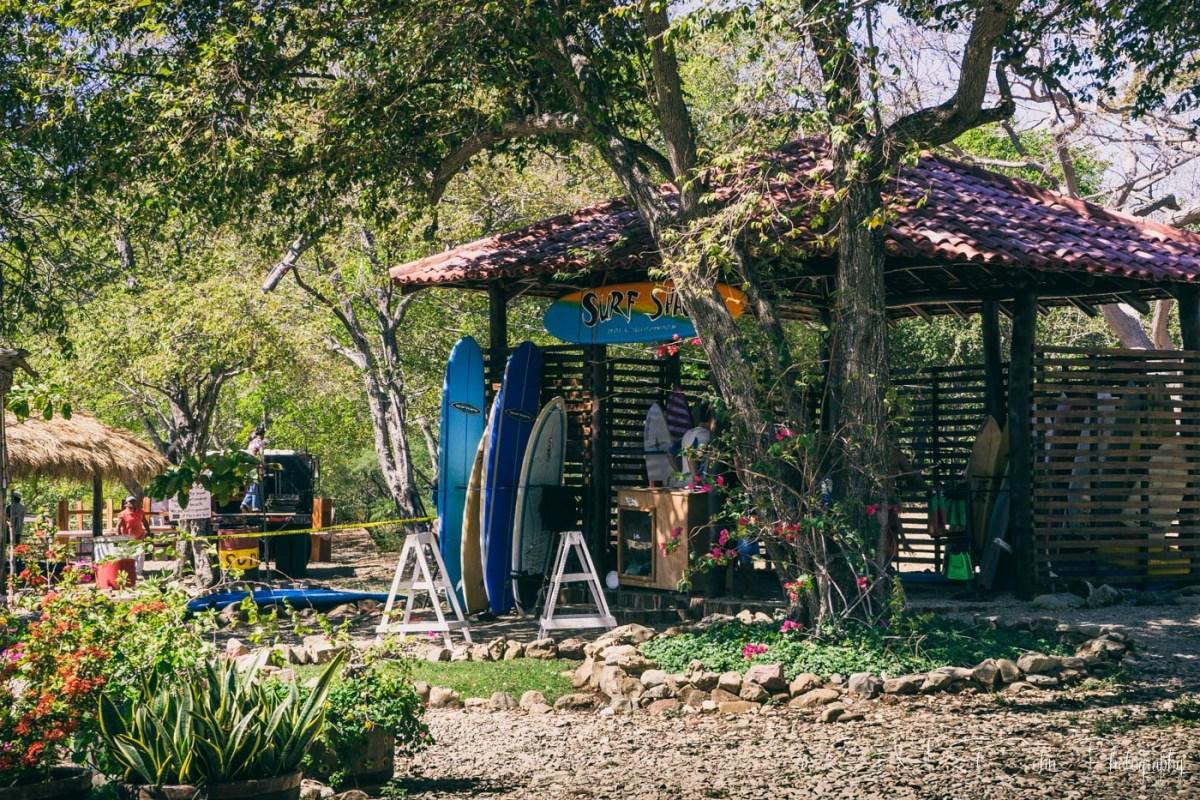 Surf shack. Playa Hermosa. San Juan del Sur. Nicaragua