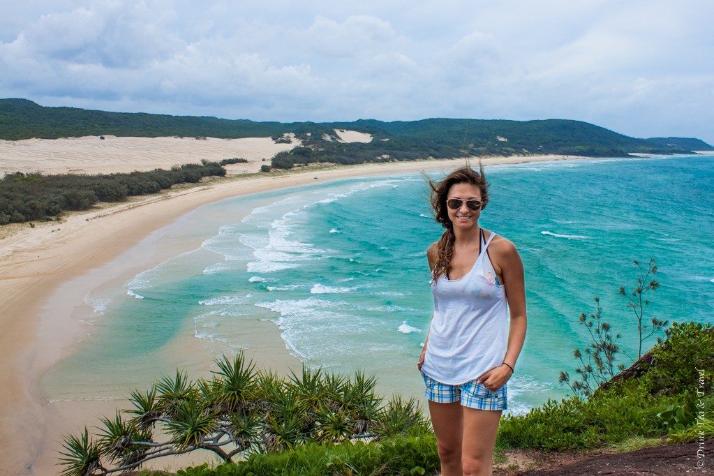 Oksana on Fraser Island, Australia