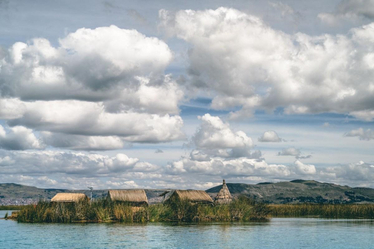 The floating island of Uros, Peru