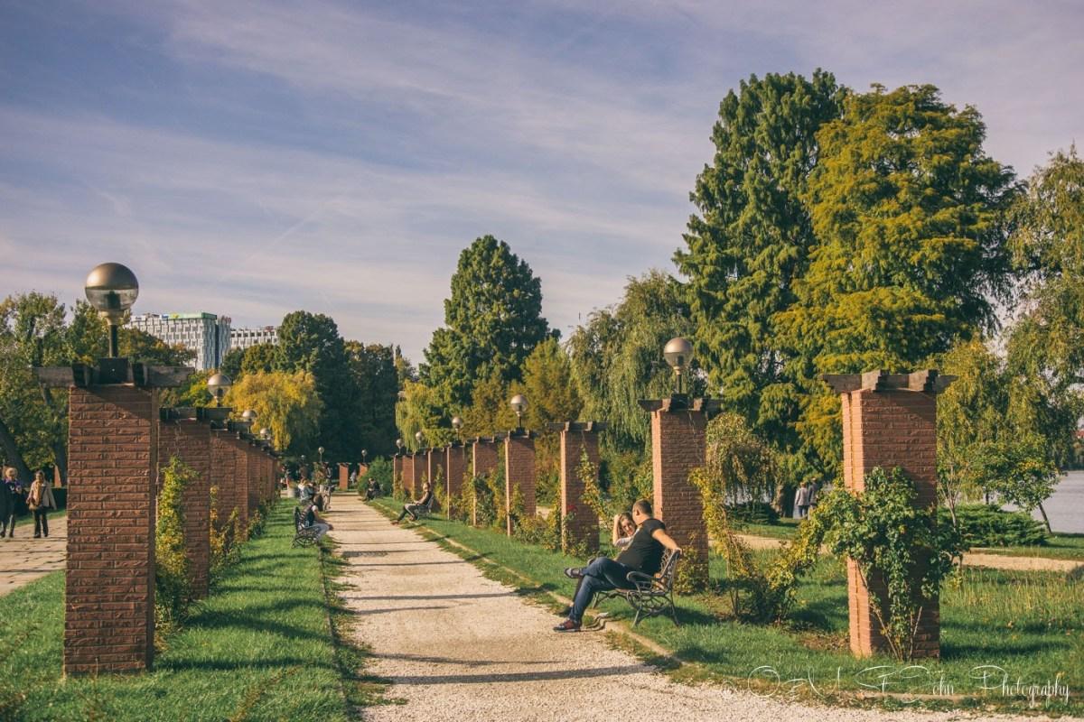 Park Herăstrău (Parcul Herăstrău) in the fall. Bucharest. Romania