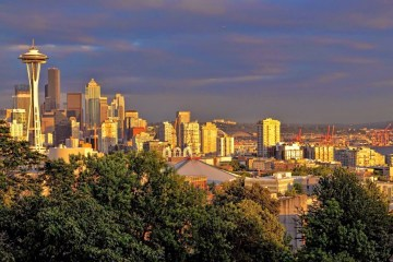 Seattle, Washington. Seattle Skyline. Photo via Trover.com by Esther Levy