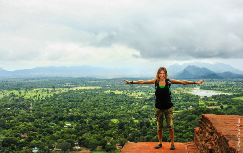 At the top of Sigiriya Rock in Sri Lanka, December 2013