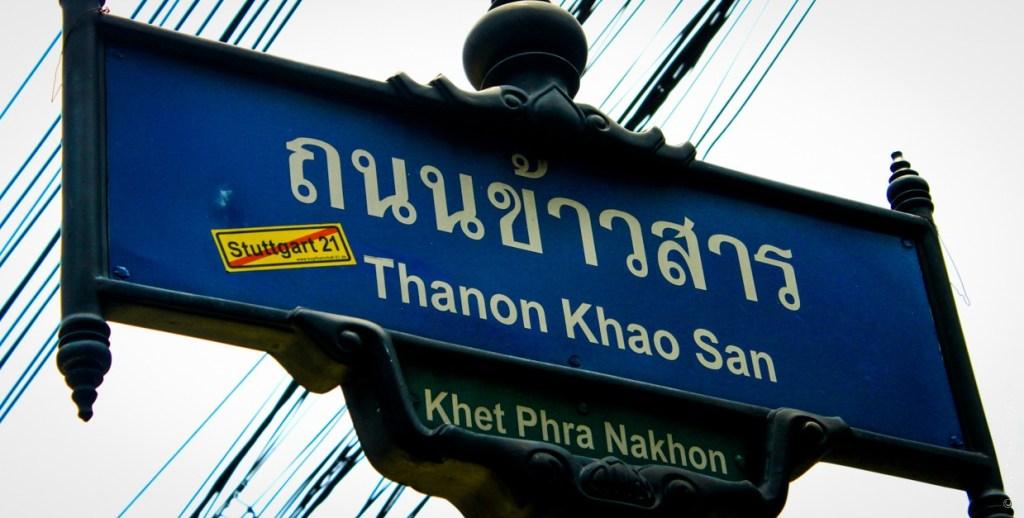 Khao San Road street sign, Bangkok
