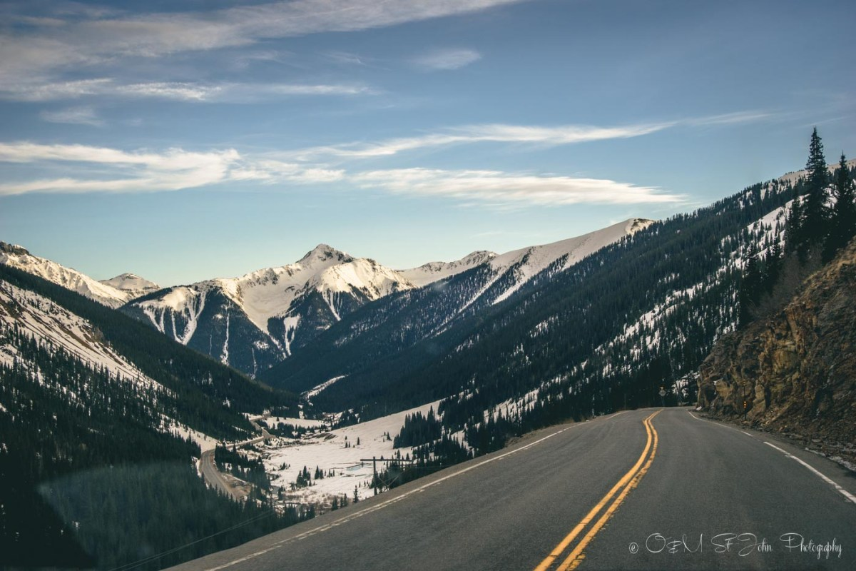 Along the Million Dollar Highway in Colorado, USA