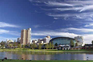 City of Adelaide. River Torrens. Australia. Photo via Working Adventures