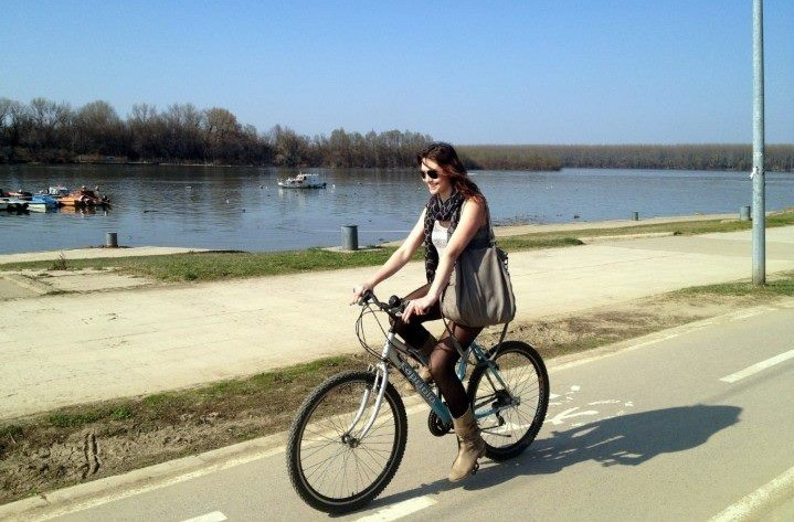 Riding a bike in Belgrade