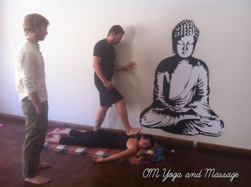 Yoga training. Photo courtesy of Two Monkeys Travel