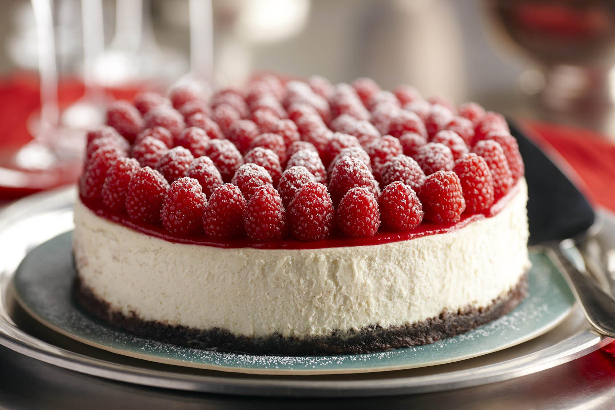 Raspberry Cheesecake With Grand Marnier