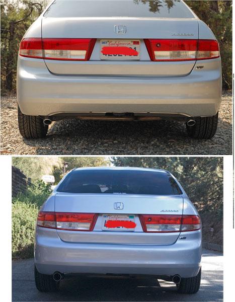 changed the exhaust tips 03 v6 sedan