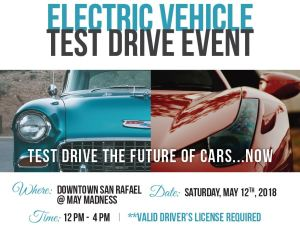Transportation Authority of Marin EV Ride and Drive at May Madness in San Rafael