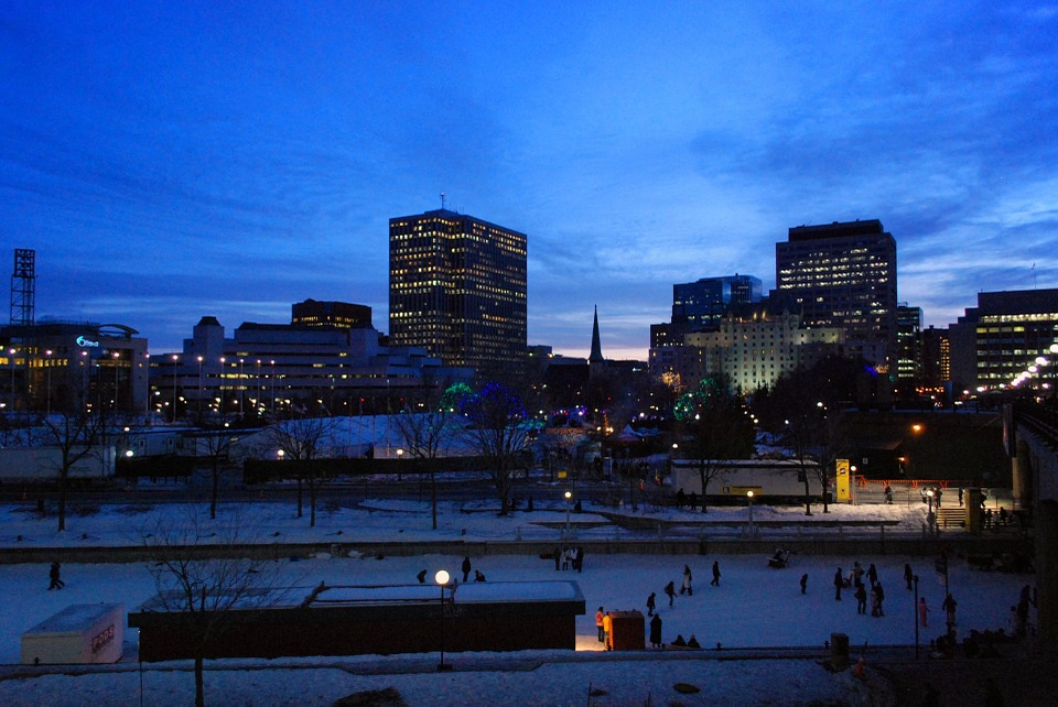 ottawa city at night