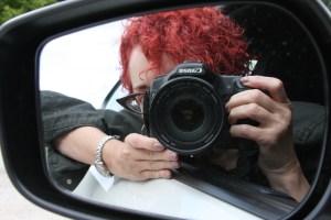 Krystyna Lagowski with camera