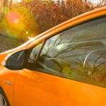 Prius C into the sun