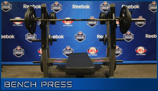 NFL Bench Press at the Combine