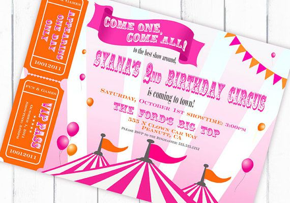 carnival circus themed birthday party