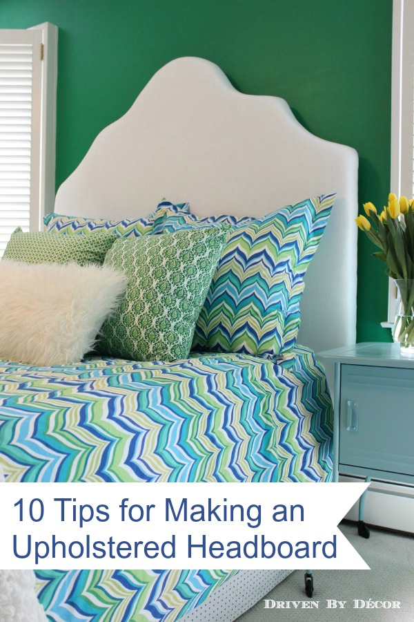 How to Make a Simple Upholstered Headboard   Driven by Decor Making the headboard took some time and patience but it wasn t very  difficult     if I can do this  you can do this