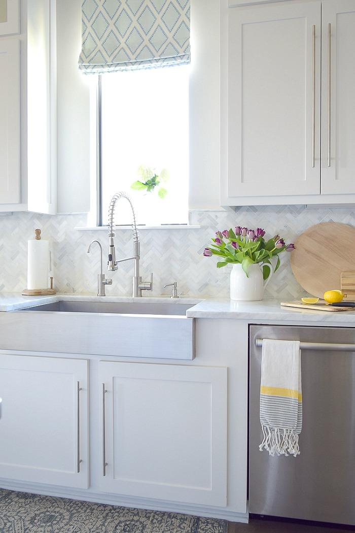 kitchen backsplash tile how high to go