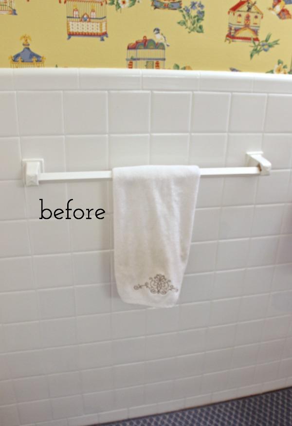 our stenciled bathroom budget makeover
