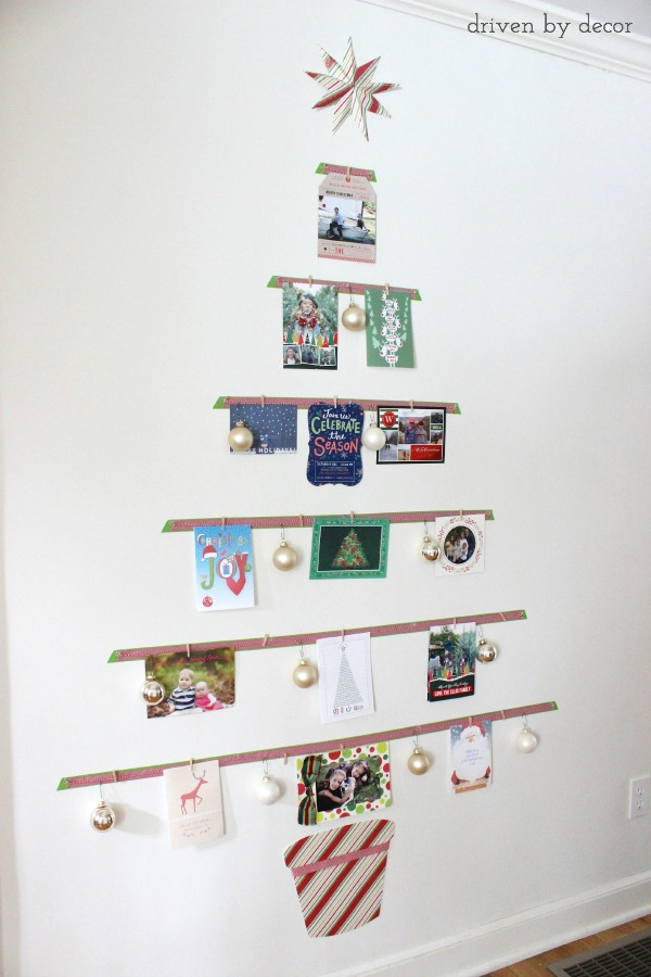 Displaying Cards With A DIY Christmas Card Tree Driven