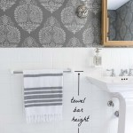 Must Have Bathroom Measurements Towel Bar Height Toilet Paper Holder Height More Driven By Decor