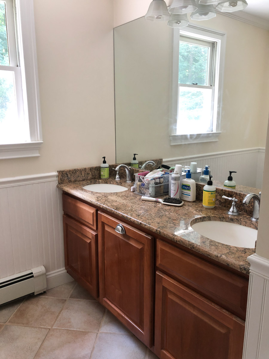 our painted bathroom vanity the
