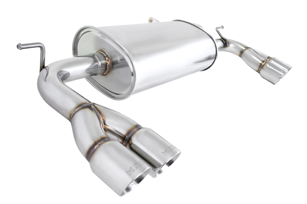 2009 2012 hyundai genesis coupe 2 0 3 8 stainless rolled tip axle back exhaust