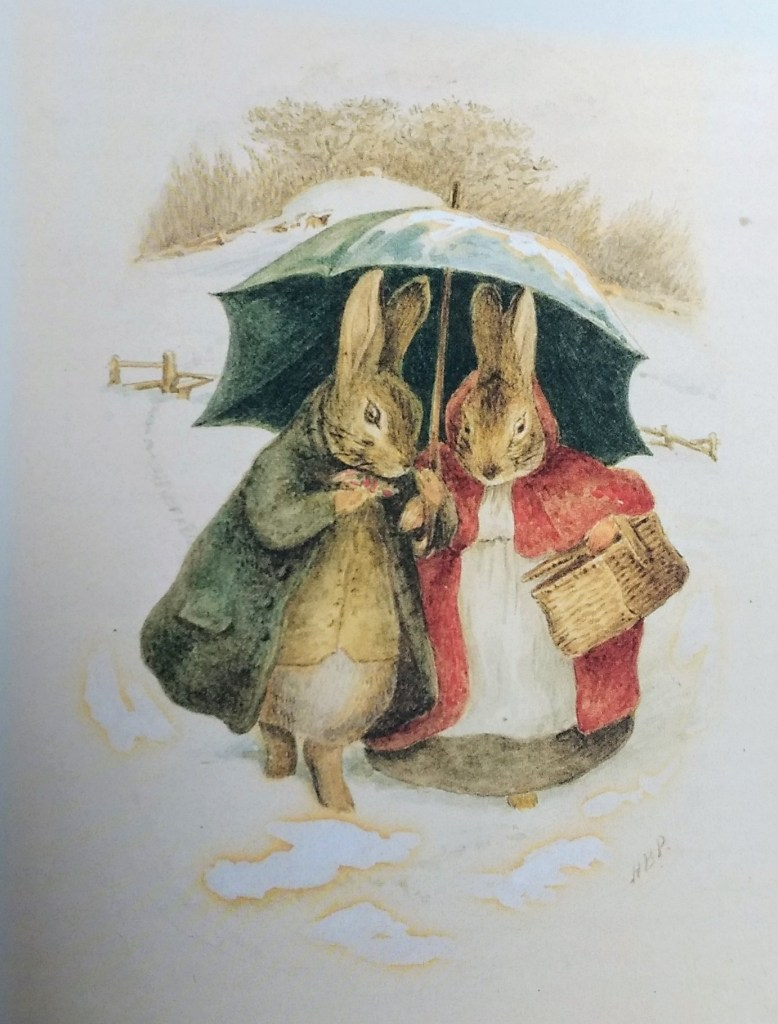 Beatrix Potter Christmas card image 1890