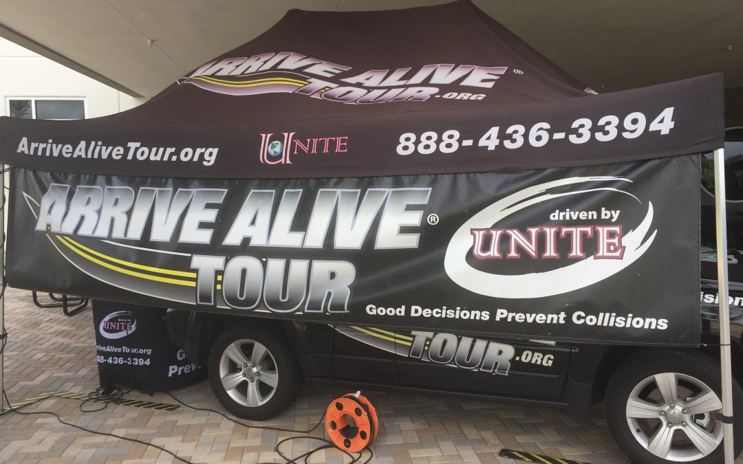 Arrive Alive Tour Distracted Driving Vehicle