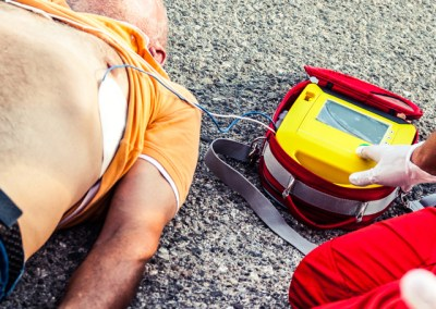 (AED) Automated External Defibrillator