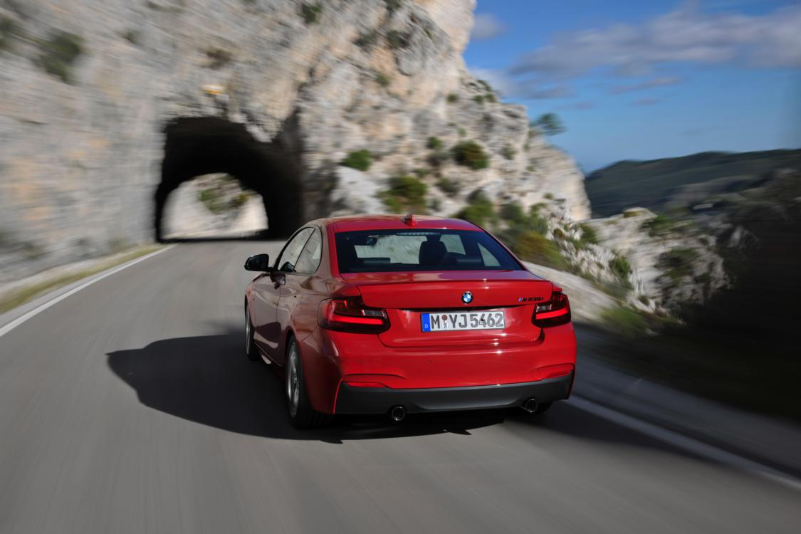 BMW 2-serie coupe M235i rood 2014 11