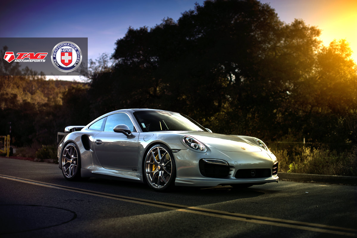 Porsche 911 Turbo S with HRE P101CL in Brushed Dark Clear by TAG Motorsports - Photo by Linhberg