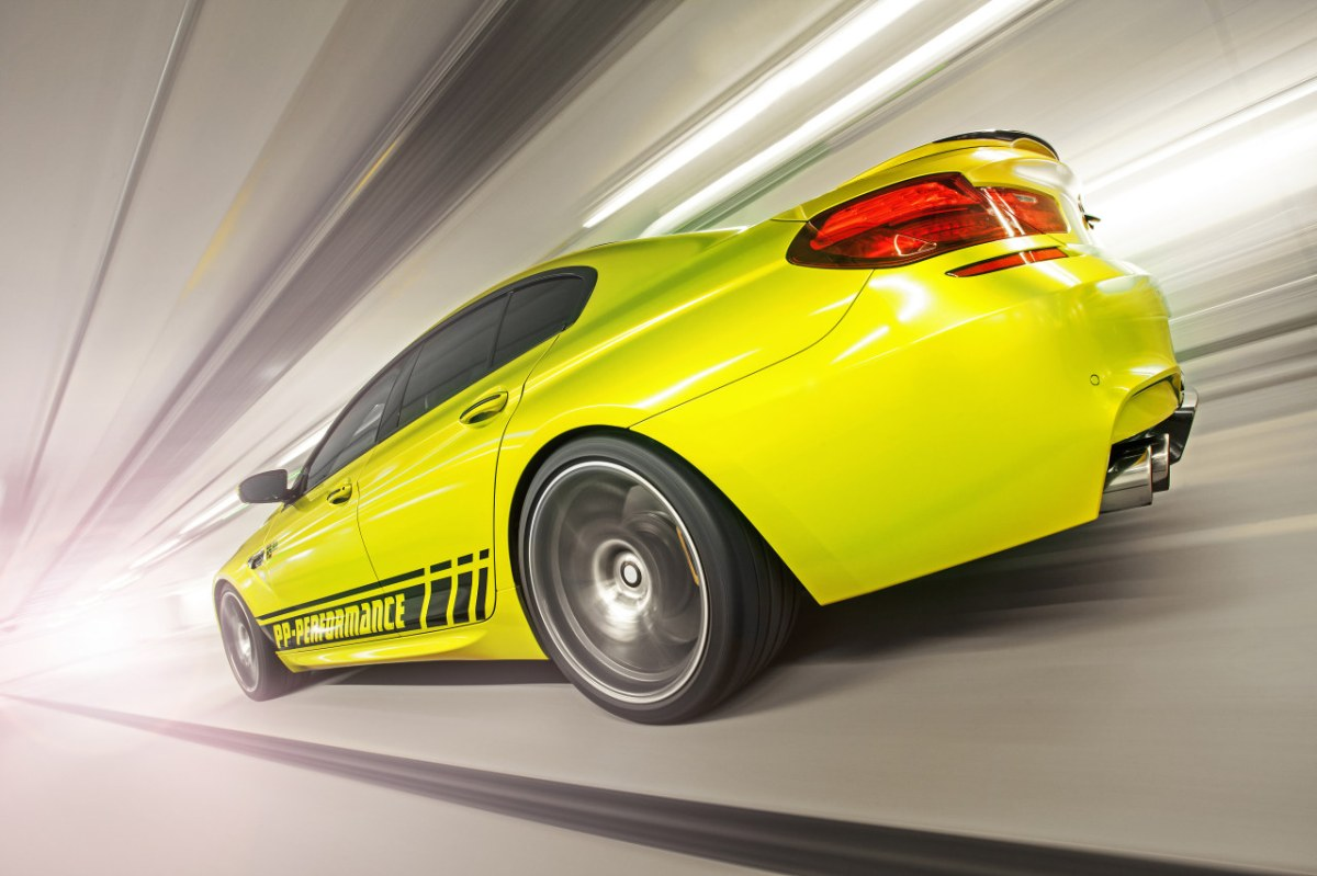 PP-Performance BMW M6 Gran Coupe Electric Lime geel 2014 07