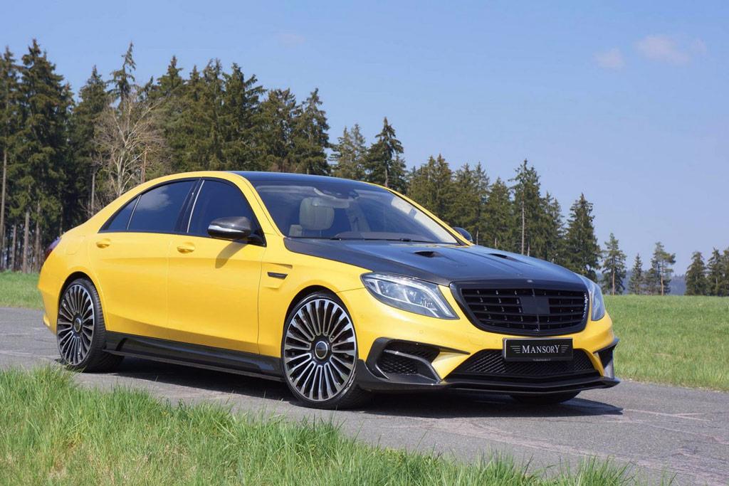 Mercedes S63 AMG 4-Matic Mansory geel 2015 100