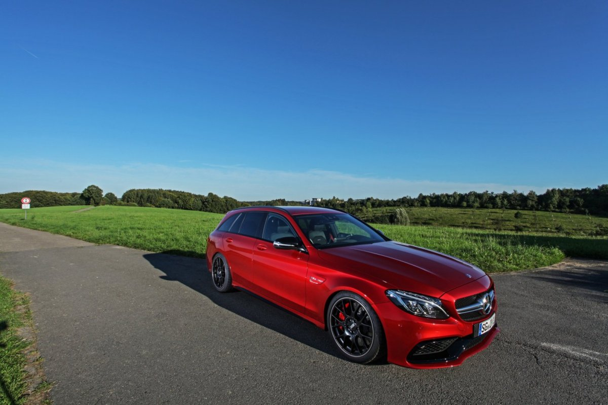 Wimmer Mercedes C63 S AMG rood 2015 03